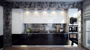 Black Gloss Kitchen Ideas by Luxury Modern Black Kitchen Featuring Rectangle Shape Black
