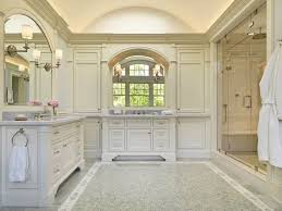luxury bathroom with built in cabinets and walk in shower add