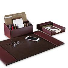 chic executive desk organizer set bomber jacket desk set three