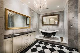 bathroom white cabinets dark floor perth black crystal chandelier bathroom traditional with and white