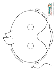 ducklings printable role play mask coloring