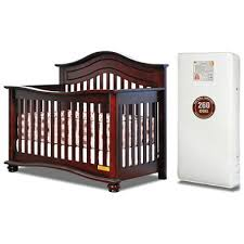 Convertible Cribs Afg Lia 4 In 1 Convertible Crib With 260 Coil Mattress Cherry