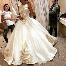 white wedding dress with gold beading michael cinco 2017 custom made gown wedding dresses gold