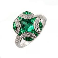 emerald rings uk platinum 1 91ct emerald 0 31ct diamond cross design ring