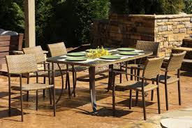 the maracay all weather wicker 7 piece dining set tortuga