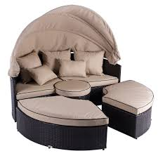 Outdoor Canopy Daybed EBay - Round outdoor sofa 2
