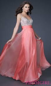 coral pink quinceanera dresses floor length la femme prom dress promgirl
