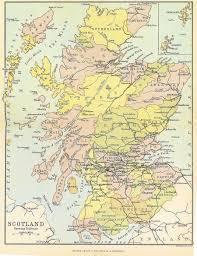 Map Scotland Scotland Counties Map 1884 Freecen Scotland