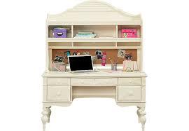 White Desk With Hutch Emma U0027s Escape White Wash Desk U0026 Hutch Desks White