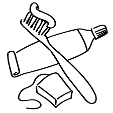 coloring outline cartoon toothbrush coloring