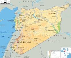 Continent Of Asia Map by Physical Map Of Syria Mapping Out The World Pinterest Geography