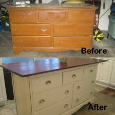 old dresser turned into kitchen island shabby chic pinterest in