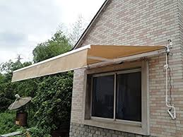 Diy Awnings For Decks 12 U0027 X 10 U0027 Diy Manual Retractable Awning Patio Deck Sunshade
