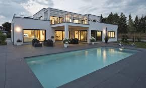 weberhaus large contemporary bauhaus style prefabricated villa