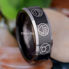 green lantern wedding ring free shipping usa hot sales e c tungsten luxury jewelry 8mm green