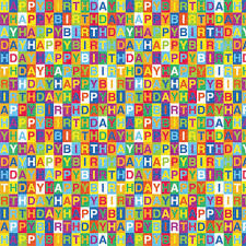 birthday gift wrap printed gift wrap 5 x30 roll happy birthday co uk