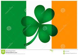 Irrland Flag Ireland Flag With Shamrock Illustration Stock Vector Image 28242423