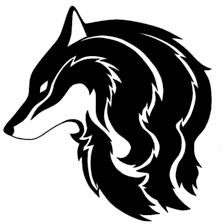 tribal wolf by lordsesshomarusgf on deviantart