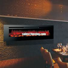 Comfort Flame Fireplace Long Linear Wall Mounted Fireplace Built In Fireplace Real Flame