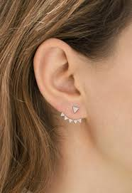 ear climber earrings ear climbers the edgy trend we re embracing for 2015 tapper s