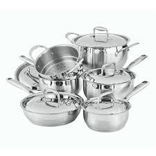 batterie de cuisine en 11 stainless steel cookware set paderno