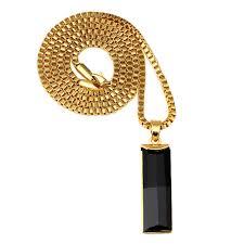 aliexpress buy nyuk gold rings bling gem nyuk new fashion gold charm black elongated gem pendant necklace