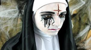 scarred nun halloween makeup tutorial youtube