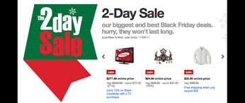 online target black friday black friday 2 day sale launched online