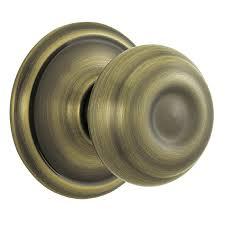 Brass Door Knobs Shop Schlage Passage Door Knob At Lowes Com