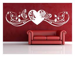 wohnideen für schlafzimmer mit wandtattoo fernen auf moderne deko