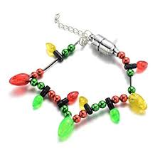 onnea flash light up bulb necklace earrings bracelet jewelry set