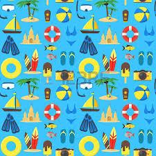 Hintergrundmuster Blau Sommer Rest Hintergrund Muster Auf Einem Blau Vektor Illustration