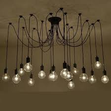 12 Bulb Chandelier Morder Edison Bulb Chandelier Lighting 3 6 8 12 Arm E27 Lampholder