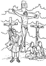 crucifixion coloring pages glum me