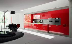 design fascinating contemporary red kitchen cabinets kitchen