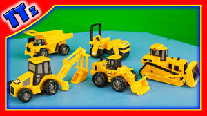 caterpillar construction vehicles u2013 mighty machines for kids youtube