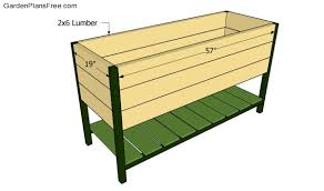 impressive raised planter plans raised planter box plans