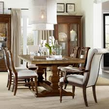 Piece Dining Set With Trestle Table By Hooker Furniture Wolf - Hooker dining room sets