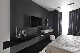 tv roo modern living room idea in other with white walls and a