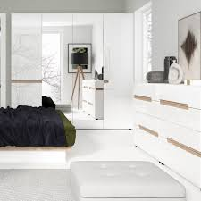 White Gloss Bedroom Wardrobes White High Gloss 2 Door Wardrobe With Oak Finish Trim Homegenies