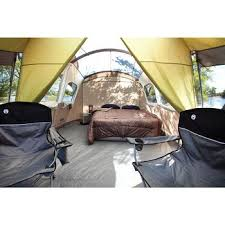 this large cabin tent is big enough to comfortably fit a bed and a
