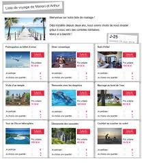 liste de mariage voyage voyage de noces que mettre sur sa liste de voyage voyage de