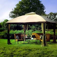 exterior enchanting landscape design with hardtop gazebo
