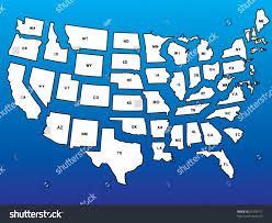 Usa Maps With States by Detailed Usa Map States Separate Layers Stock Vector 23350717