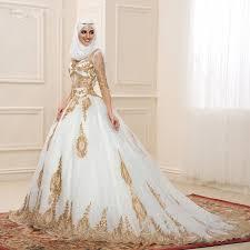 muslim wedding dresses aliexpress buy 2016 modest wedding dresses with sleeves gold