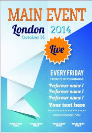 20 free event flyer templates for range of events demplates