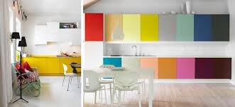 Yellow And White Kitchen Cabinets Black White Yellow Colorful Kitchen Cabinets