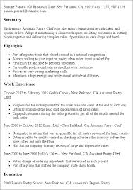 Example Of Chef Resume by Professional Assistant Pastry Chef Templates To Showcase Your