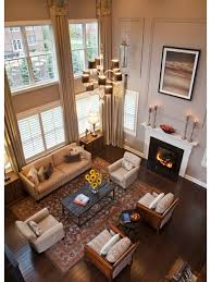 2 story living room two story living room on elegant story curtains and two window