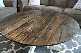 Stained Coffee Table Round Pallet Coffee Table